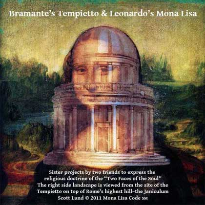 Sitting atop Rome's highest hill, the Tempietto was the primary geographic focus for Leonardo da Vinci's Mona Lisa